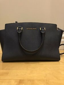 MICHAEL KORS Selma Saffiano leather - Navy Blue - 90% new