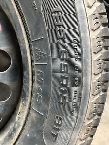 Tires on Steel Rims 195/65/R15  Off Chev Sonic