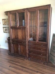 3 piece cherrywood display cabinet