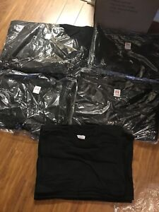 Plain black cotton shirts