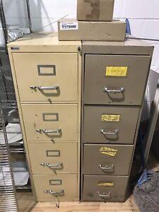 Classeur 4 tiroir filière filling métal 4 drawer cabinet 50$each