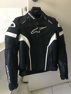 Aplinestars Womens Leather Motorcycle Jacket