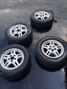 P205/70 r15 winter tires with honda mags rims wheels