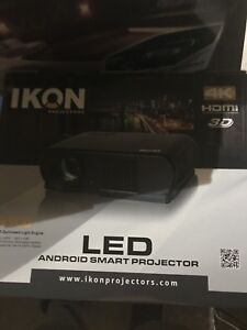 Led android smart projector $350
