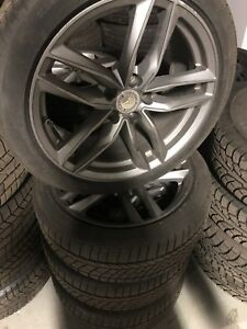 225/45R18-continental winter tires/ AMG rims