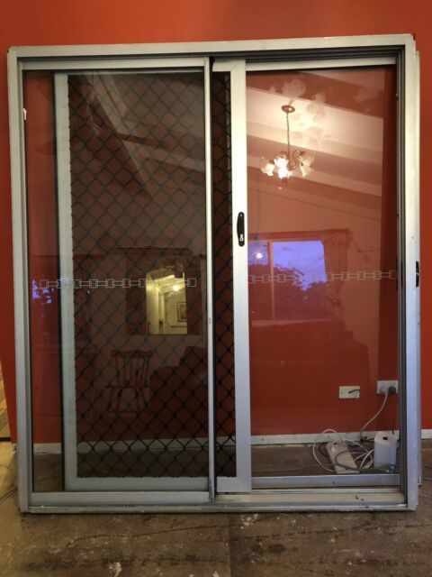 Sliding glass door with security screen | Building Materials | Gumtree