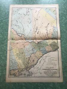 Eastern Ontario antique atlas plate