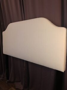 Headboard-for Double Bed ,  ivory fabric