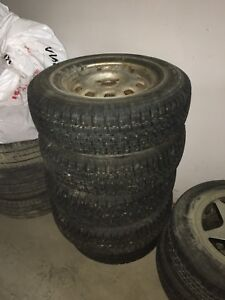 Set of 4 Winter Studded Tires/Rims