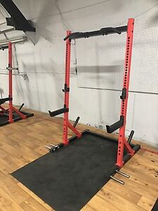 Squat rack   Bench   Prowler sled