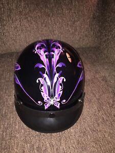 Ladies outlaw motorcycle helmet