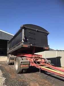 2 axle tipper dog trailer