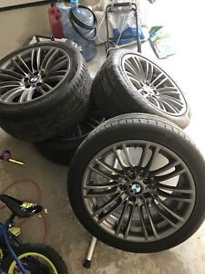 OEM BMW m3 wheels mags and tires 18 inch 2013 e92 e93