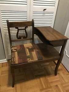 ANTIQUE DUNCAN PHYFE TELEPHONE TABLE