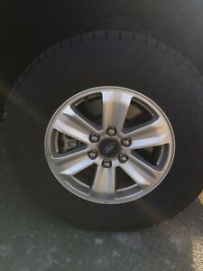 "F150 17"" OEM Rims and Winter Tires"