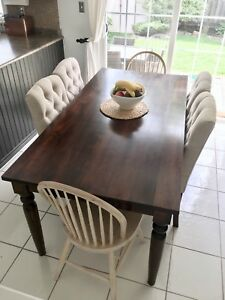 Dark Mahogany Dining Room Table