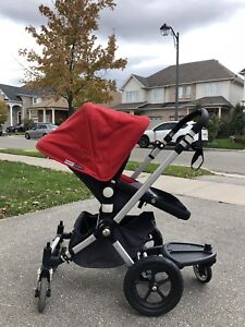 Bugaboo Cameleon Red Stroller with Accessories
