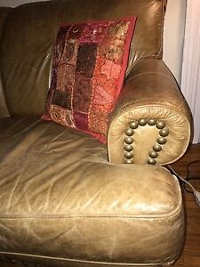 Tan leather couch London Ontario image 4