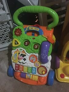 Push toy/walker and toy vacuum