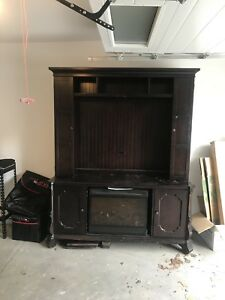 Tv stand with fire place (kelowna)