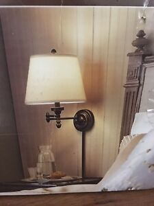 NEW Allen+Roth Swing Arm Wall Sconce/Lamp