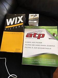 04 Acura TL air filter, oli filter, cabin filter, manual