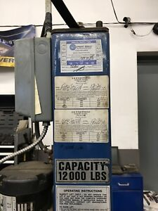 4-Post Ford Smith Vehicle Lift with Rolling Jacks