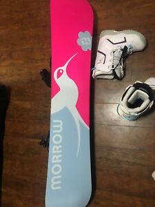 My daughter selling her girls snowboard,bindings plus boots,