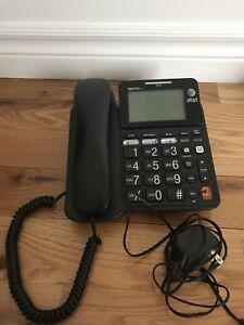 Téléphone de bureau AT&T avec fil et répondeur