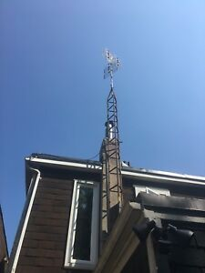 20ft tower with antenna - digital reception from buffalo