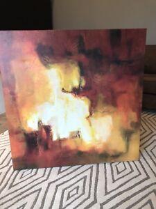 Huge red art canvas