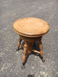 Vintage claw foot organ stool