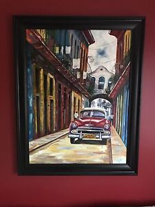 Original oil painting from Cuba professionally framed