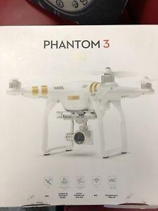 Drone phantom 3 pro 4k  with 2 battery