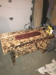 Live edge pine coffee table