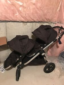 City Select baby jogger double stroller black