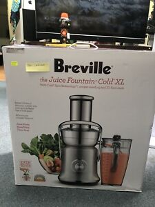 Breville Juice fountain extractor XL, juicer BJE830BSS Warana Maroochydore Area Preview