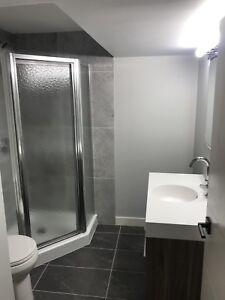 Maax 2 piece bro angle shower with glass door