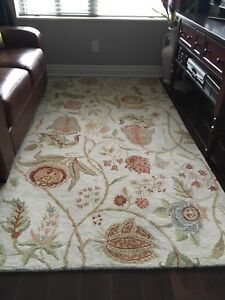 Wool rug from Pottery Barn. Size 5/8