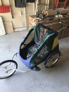 Running stroller/bike trailer