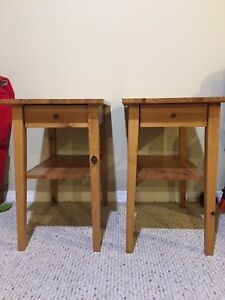 100% Solid Wood Nightstands/End Tables