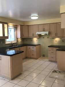 Appliances, cabinetry, and countertop for sale!