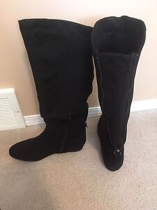 Black Suede Boots Size 10