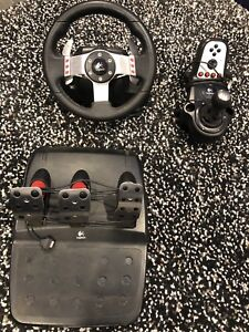Logitech G27 Force feedback wheel, pedals and shifter