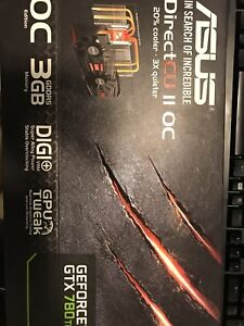 Asus DCII OC Nvidia GTX 780Ti with box and receipt
