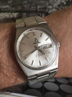 Men's vintage unicorn watch