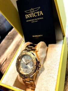 Invicta 24 Jewel Automatic NH35A 18K Gold Plate Watch