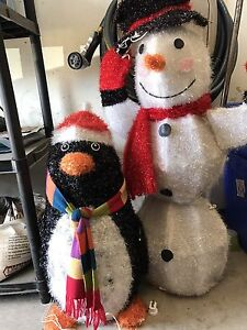 Snowman and Penguin Outdoor figures