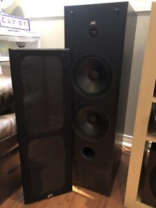 PSB speakers and Yamaha receiver and subwoofer