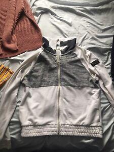 VS white zip up sweater
